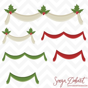 Clipart - Christmas Banners Bunting