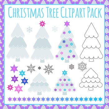 Christmas Tree Clip Art Pack for Commercial Use (2)