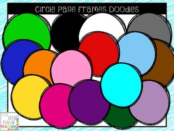 Clipart - Circle Page Accents / Frames Doodles