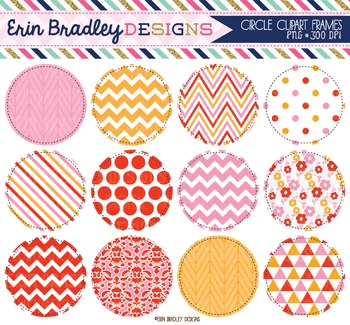 Clipart Circles - Pink Red Orange