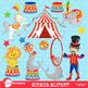 Clipart, Circus Carnival Clipart, Digital Images, AMB-1158
