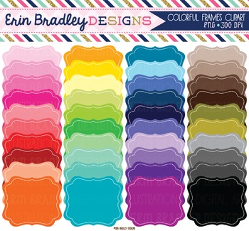 Clipart - Colorful Solid Frames