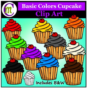 Clipart ♦ Cupcakes ♦ Basic Colors