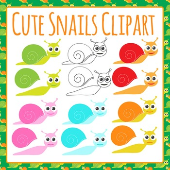 Snails Clip Art Pack for Commercial Use