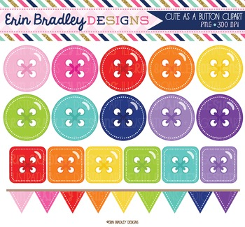 Clipart Cute as a Button Circle Square Digital Graphics Se