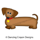 Dog Clip Art:  Dachshund Dog (Wiener Dog / Sausage Dog)