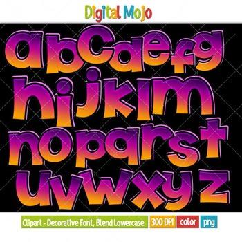 Clipart - Decorative Font, Blend Series 2 Lowercase