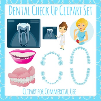 Teeth - Dental Checkup Clip Art Pack for Commercial Use