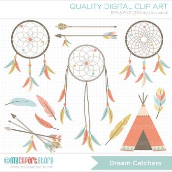 Clipart - Dream Catchers / Tribal / Aztek / Navaho / Ameri
