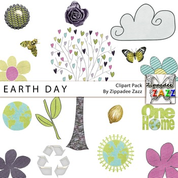 Clipart - Earth Day Graphics - 16 PNG transparent images