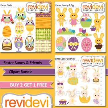 Easter clip art bundle (3 packs)