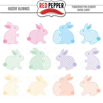 Clipart - Easter Bunnies