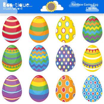 Clipart- Easter Eggs Digital Clip Art. Bright Easter Eggs