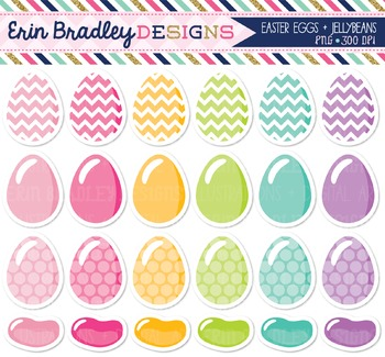 Clipart - Easter Eggs and Jelly Beans