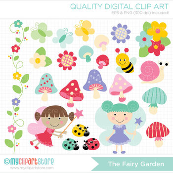 Clipart - Fairy Garden / Fairy princess