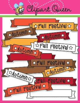 Clipart: Fall / Autumn Banners