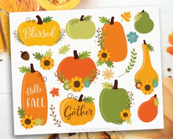 Clipart - Fall / Autumn / Thanksgiving Pumpkins