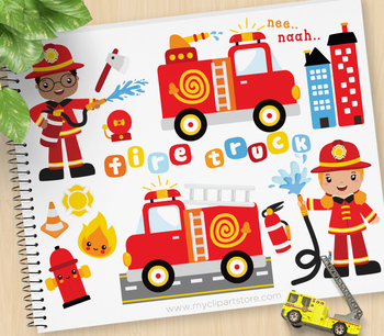 Clipart - Fire and Rescue Crew (multiracial) / Career / Oc