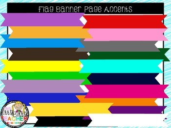 Clipart - Flag Banner Page Accents