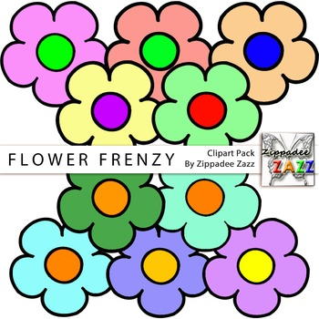 Clipart - Flower Frenzy Spring - 10 PNG transparent images