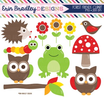Clipart - Forest Animals Nature Clipart