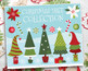 Clipart - Funky Christmas Trees Bright