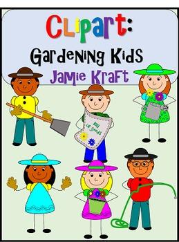 Clipart: Gardening Kids