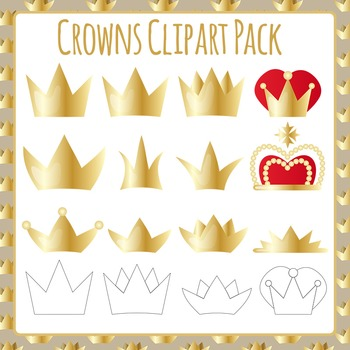 Crowns Clip Art Pack for Commercial Use
