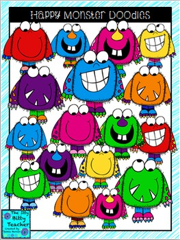 Clipart - Happy Monster Doodles