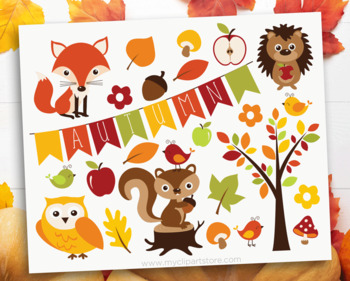Clipart - Fall / Autumn Critters / Thanksgiving (woodlands