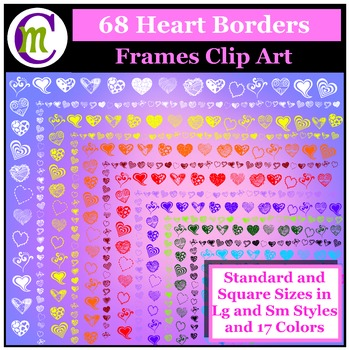 Clipart ♦ Heart Borders and Frames Clip Art