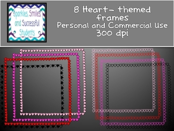 Clipart: Heart Frames Pack