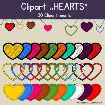 Clip art Hearts doodle frames - Valentine hearts - persona