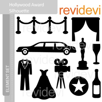 Clipart Hollywood Award Silhouette - Red Carpet Party - Cl
