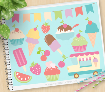 Clipart - Ice-Cream Truck / Sorbet