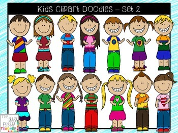 Clipart - Kids Doodles - Set 2