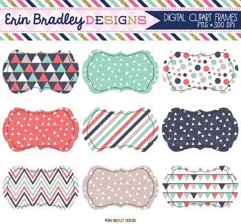 Clipart Labels - Triangles Collection