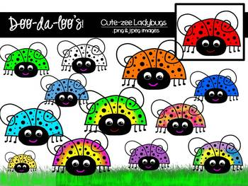 Clipart - Ladybugs - digital download - Doo-da-loo's!