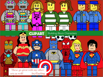 Clipart: (Lego like) Building block characters