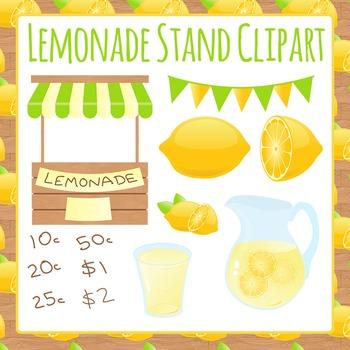 Lemonade Stand Clip Art Pack for Commercial Use