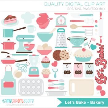 Clipart - Let's Bake / Kitchen Utensils