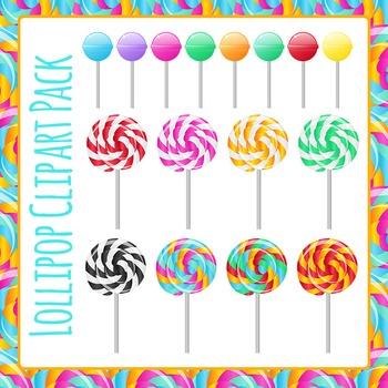 Lollipop Clip Art Pack for Commercial Use