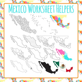 Mexico Worksheet Helpers Clip Art Pack for Commercial Use