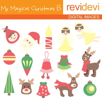 Clipart My Magical Christmas B (angels, reindeers, ornamen