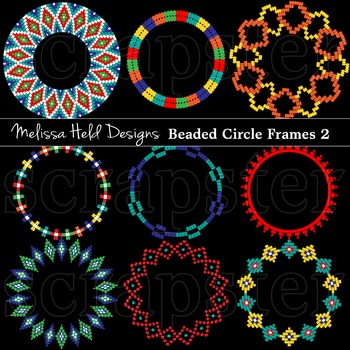 Clipart: Native American Beaded  Frames Clip Art 2