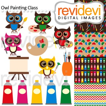 Clipart Owl Painting Class