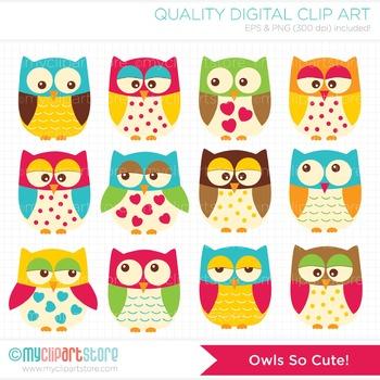 Clipart - Owls So Cute