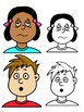 Clip Art PNGs - Children - Boy and Girl - faces feelings a