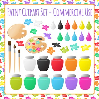 Painting and Art Clip Art Set for Commercial Use