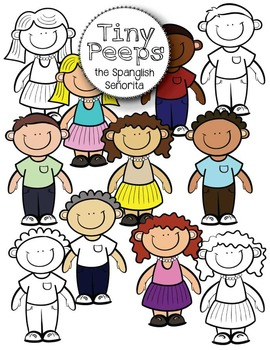 Tiny Peeps {Clip Art for Commercial Use}